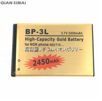 4875c3ac7c2 Nueva 2450 mAh BP-3L de reemplazo de batería recargable para Nokia 603 de  701 ASHA 303 Lumia 710, 610, 505, 510 610C 3030, ...