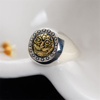 Ancient Beast Face Solid Silver 925 Rings Men Pure Sterling Silver 925 Jewelry Antique Thai Silver Cool Gothic Male Ring Gifts