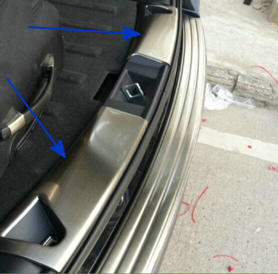 stainless steel inner rear bumper guard plate for Jeep compass 2011-2015 stainless steel rear outer bumper protector guard plate for jeep grand cherokee 2014