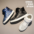 2016 New Winter Children Shoes Rivets Boy Female Sports Shoes Girls &Boys Enfant HighTop Spring Casual Shoes For Kids 3 Color