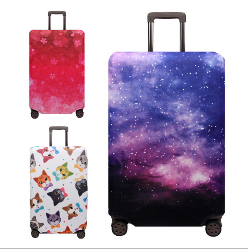 18-32 Inch Cats Eiffel Tower Elastic Fabric Luggage Protective Cover Trolley Case Suitcase Dust Cover Travel Accessories