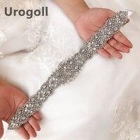 Rhinestone Pearl Wedding Belts Flower Satin Wedding Dress Bridal Ribbon Belt Party Bridesmaid Dress Girdle Lady