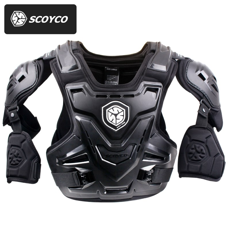 SCOYCO Moto MX Armure Motocross Poitrine Back Protector Armour Gilet Moto Veste Racing De Protection Garde Du Corps Armure CE