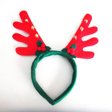 Christmas Headband Antlers Headwear Lovely Christmas Hairbands For Girls birthday Party Hair Decoration