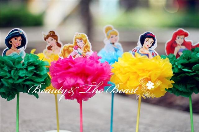 4040'' High Princess Snow White Cinderella Aurora Ariel Belle Cupcake Simple Belle Birthday Party Decorations