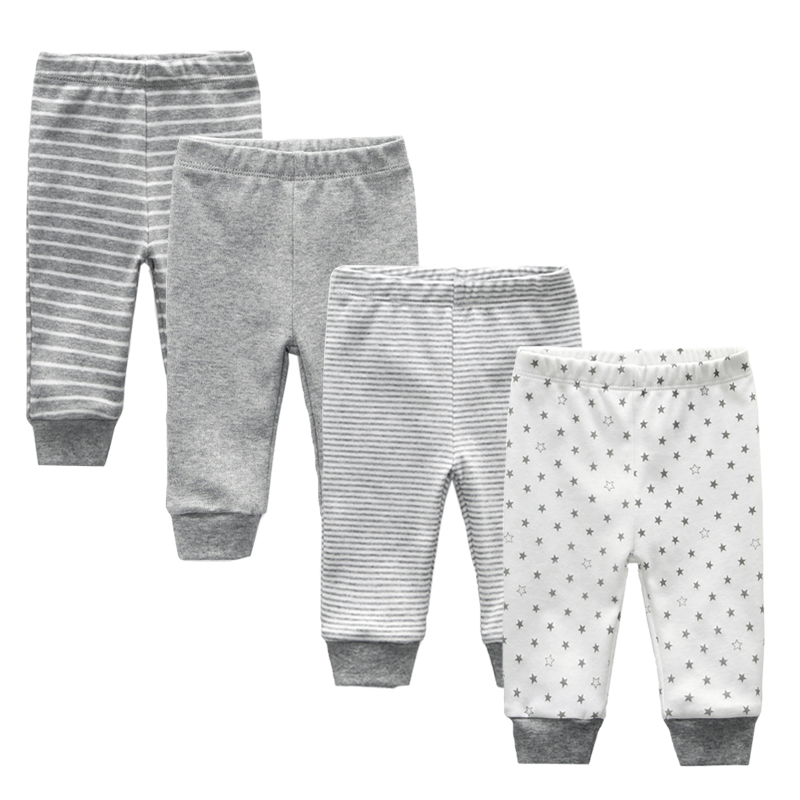 4pcs/lot baby leggings Summer 2019 Mid Baby Trousers Roupa Bebes Infant baby boy pants Baby girls Clothes(China)