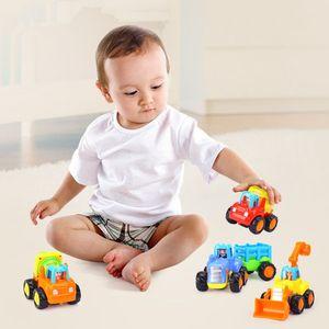 Image 2 - Vehículos de construcción para niños de 2 a 3 años, juguetes gruesos de dibujos animados para tirar hacia atrás, regalo para niños pequeños, MAR 20