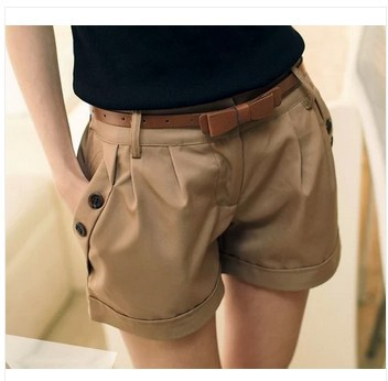 Khaki Womens Shorts Promotion-Shop for Promotional Khaki Womens ...