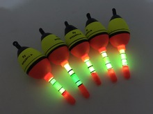 5pcs 5g EVA float + 10pcs Glow stick Fishing Floats Luminous Lighting Floats