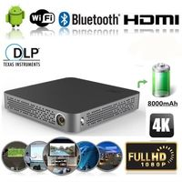 M10 4K HD 1080P TI DLP Technology Wifi Projector Mini HDMI Cinema for Home Theater for Samsung Xiaomi Huawei Iphone Android Ios