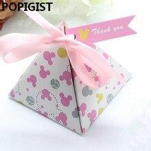 Креативные коробки с рисунком Минни в горошек для детей, для душа, конфетные коробки для детей, для девочек, для дня рождения, для вечеринок, подарочные коробки, Bomboniere