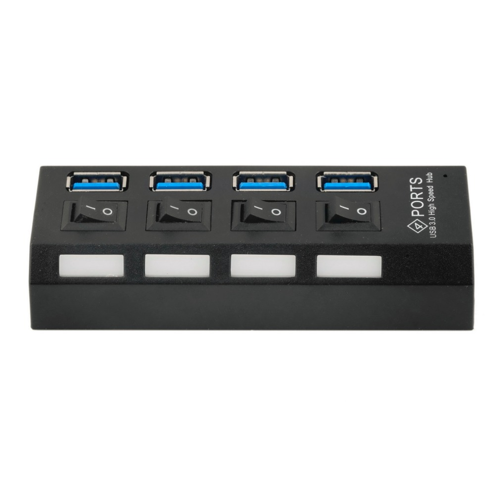 USB 3.0 Hub 4 Ports Super Speed 5Gbps 4-port USB 3.0 Windows Mac OS Linux PC Laptop - Black