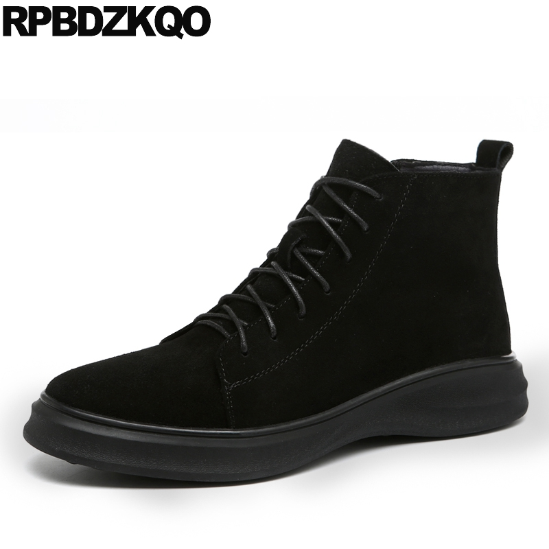 Boots Booties Trainer High Platform Sneakers Fur Men Black Sole Ankle Thick Soled Top Shoes Harajuku Comfortable Suede WinterBoots Booties Trainer High Platform Sneakers Fur Men Black Sole Ankle Thick Soled Top Shoes Harajuku Comfortable Suede Winter