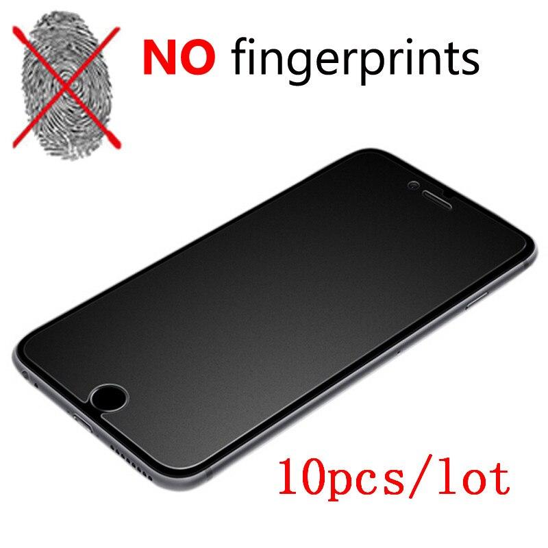 imágenes para 10 unids para iphone 7 7 plus 6 s 5S 2.5d helada mate premium protector de pantalla de cristal templado para iphone 6 s 6 plus 5S sí guardia película