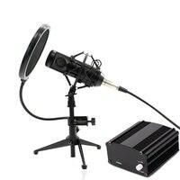 Grinding process Full Set Metal Condenser microphone BM 800 bm 800 48V Phantom power sound card Studio mic computer Microphone