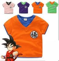 Dragon Ball Z DBZ Goku Son Super Saiyan Vegeta Cosplay Costume Tshirt T Shirt Kids Children