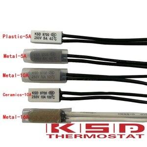Image 1 - 50 stücke KSD9700 Thermostat 40 45 grad 5A/10A/16A 250 v Temperatur Thermische Control Schalter nc/ keine 40/45/50/55/60/65/70/80/85/90