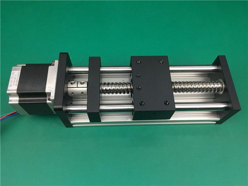 Mouvement linéaire 50mm 100mm longueur de voyage vis à billes GGP 1605 1610 Table coulissante linéaire rail coulissant + Nama 23 moteur pas à pas