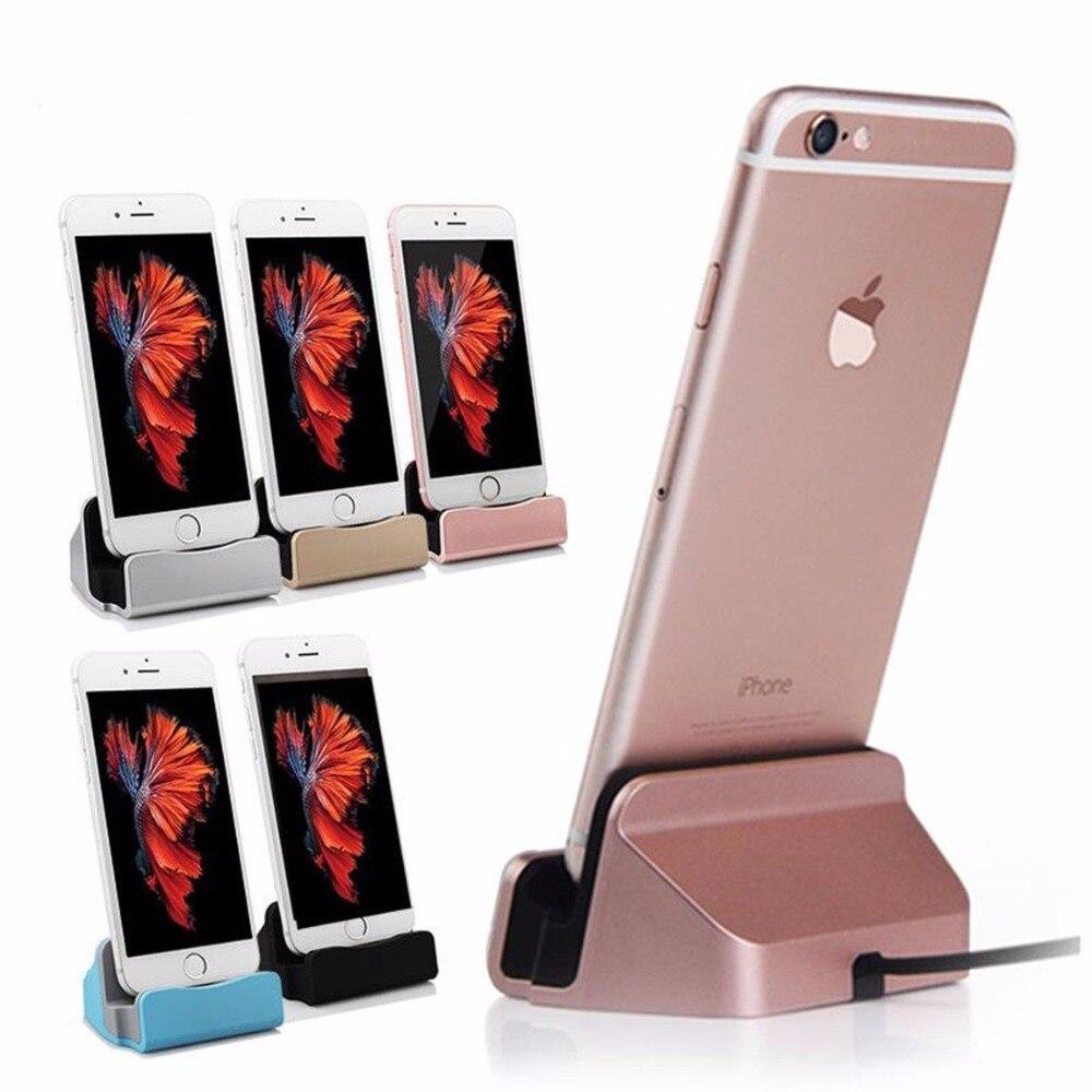 imágenes para Nueva Base de Carga Estación de Acoplamiento Cargador USB Cable de Sincronización de Escritorio del Teléfono Móvil de datos Para el iphone de Apple 5 5C 5S SE 6 s 6 Más iPad