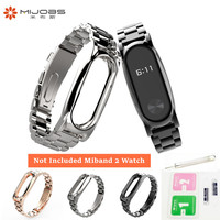 Metal Mi Band 2 Wrist Strap Belt For Xiaomi Miband 2 Smart Bracelet Wrist Band Silver