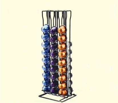Capsule Coffee Rack Rotating Coffee Capsule Display Storage Shelf