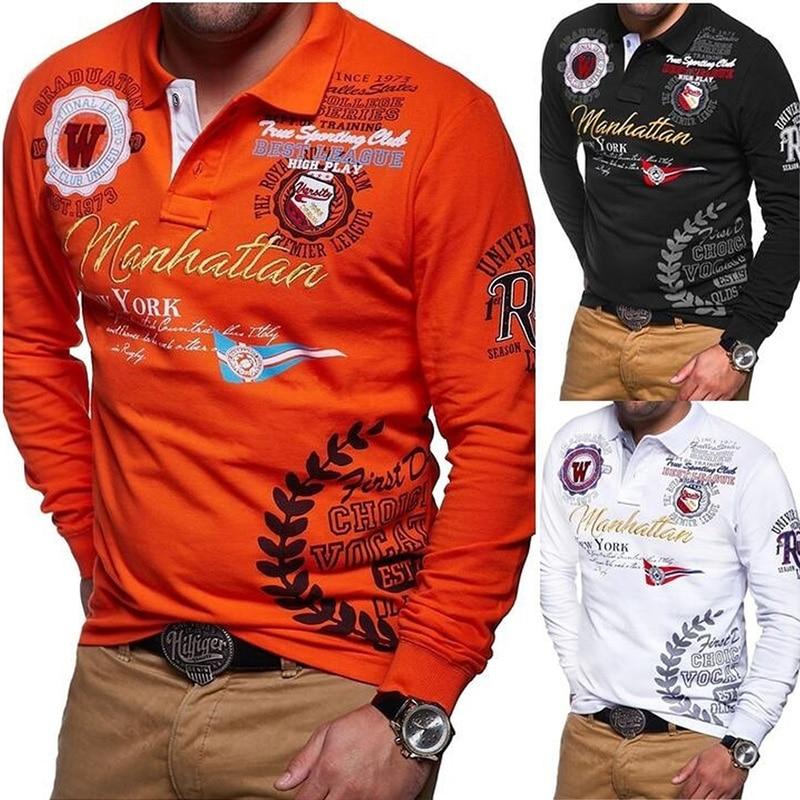 ZOGAA New Models Aeronautica Militare Camisa Masculina   Polo   Men Long Sleeve   Polo   Shirt Brands Solid   Polo   Shirt 4 Colors S-3XL