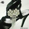 1 par/lote Frete Grátis A Grade Pedrinhas Sapatos de Casamento Decoração Clipe Clipe de Sapato