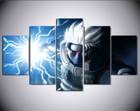 5Piece Wall Art Picture Animated Cartoon Characters Poster Painting Canvas Home Decor Living Room Canvas Print