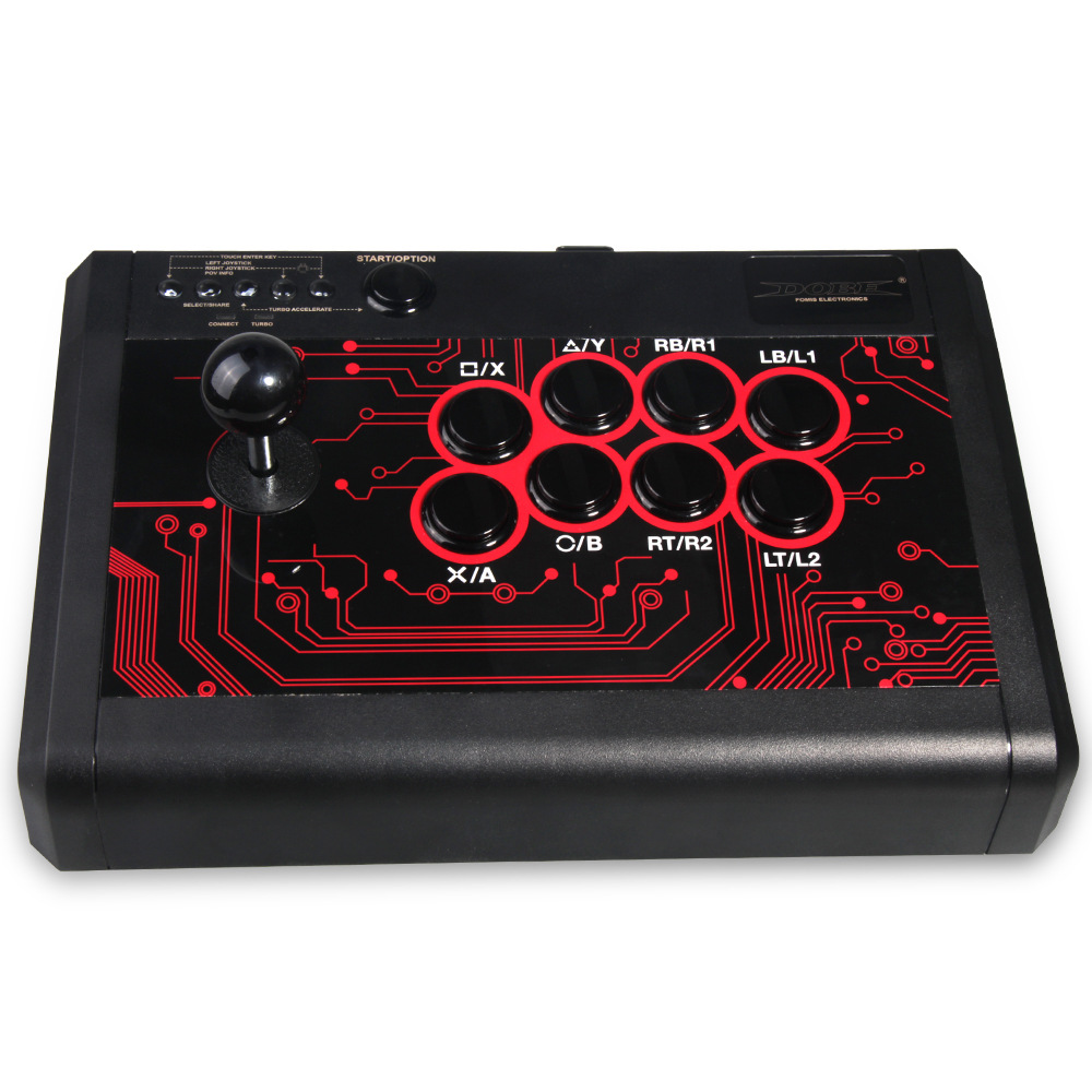 6 in 1 Wired Arcade Fight Stick Joystick for PS4 PS3 XBOX ONE 360 PC & SWITCH magic ns wireless for ps4 for ps3 for xbox one s 360 controller fighting stick adapter for nintendo switch and pc