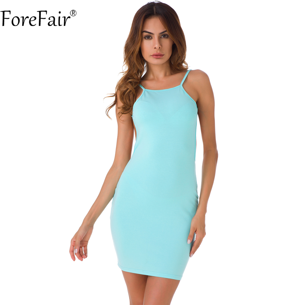 ForeFair Women Sling Bare Back Sexy Club Party Dresses 100% Cotton ...