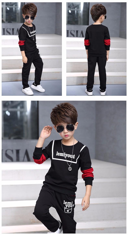 008b88d07 5 13Y new 2017 spring boys fashion clothing sets 2pcs baby boy t ...