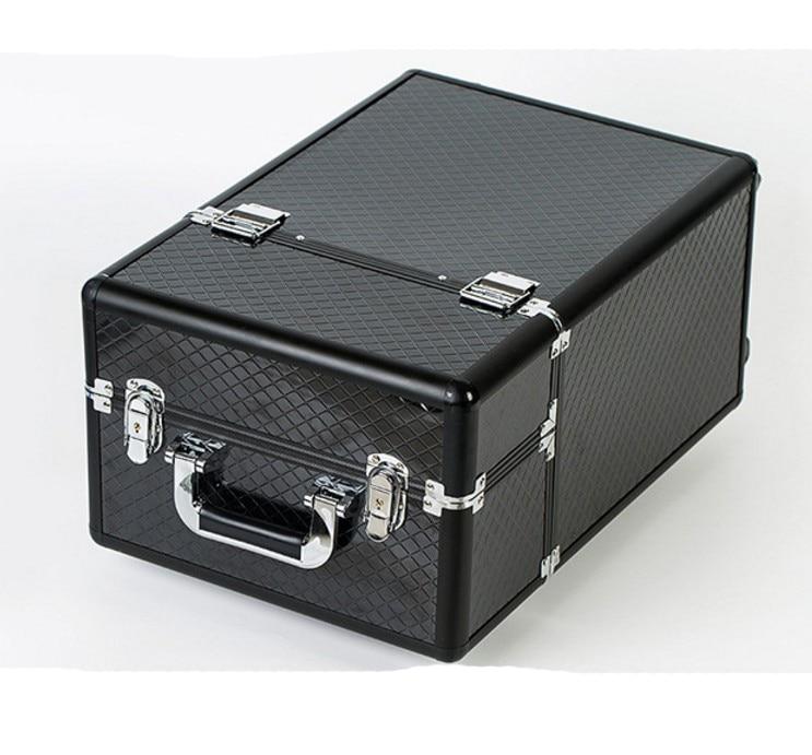 Maquillage Cosmétiques Sac En Cas Grande Boîte Récit Spinner Voyage De Capacité Aluminium Portable Tige Black nxAUf7Ywq
