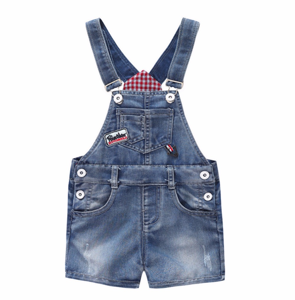 9M-10T Baby Summer Jeans Overalls Infant Shorts Toddlers Kids Denim Rompers Baby Boys Girls Short Jumpsuit Children Clothing