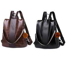 купить Women Backpack Purse PU Leather Antitheft Rucksack Casual Satchel School Shoulder Bag for Girls по цене 864.94 рублей