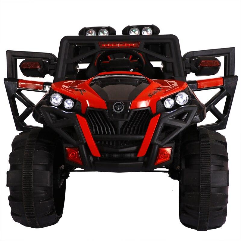 Super grande Per Bambini a quattro ruote motrici auto elettrica giocattolo di telecomando assorbimento degli urti SUV elettrico può guidare sit bambino auto giocattolo