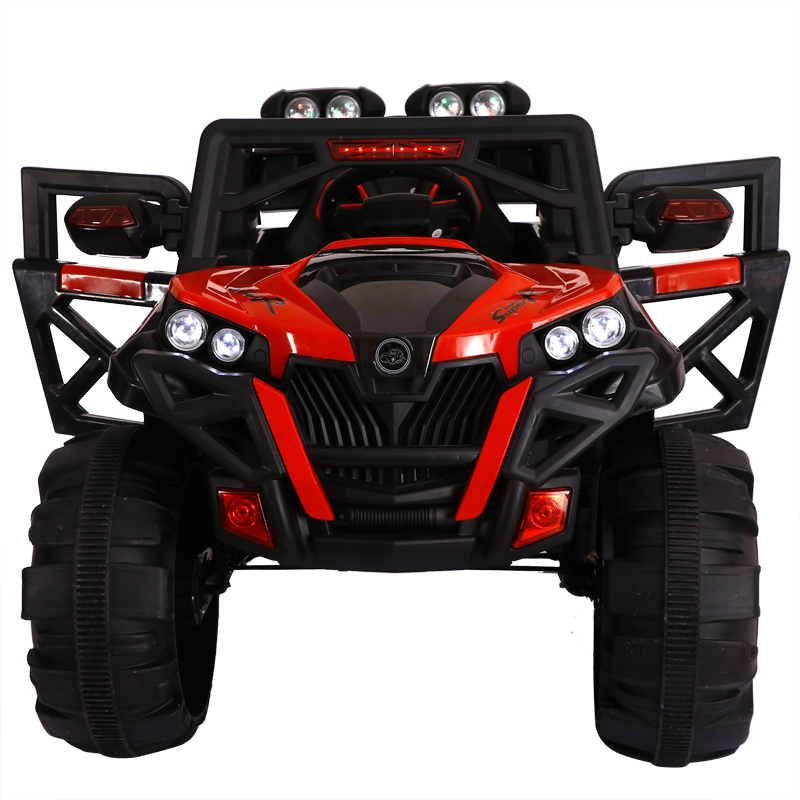 Super grands Enfants quatre roues motrices voiture électrique télécommande jouet absorption des chocs électrique SUV peut lecteur de vous asseoir bébé jouet de voiture