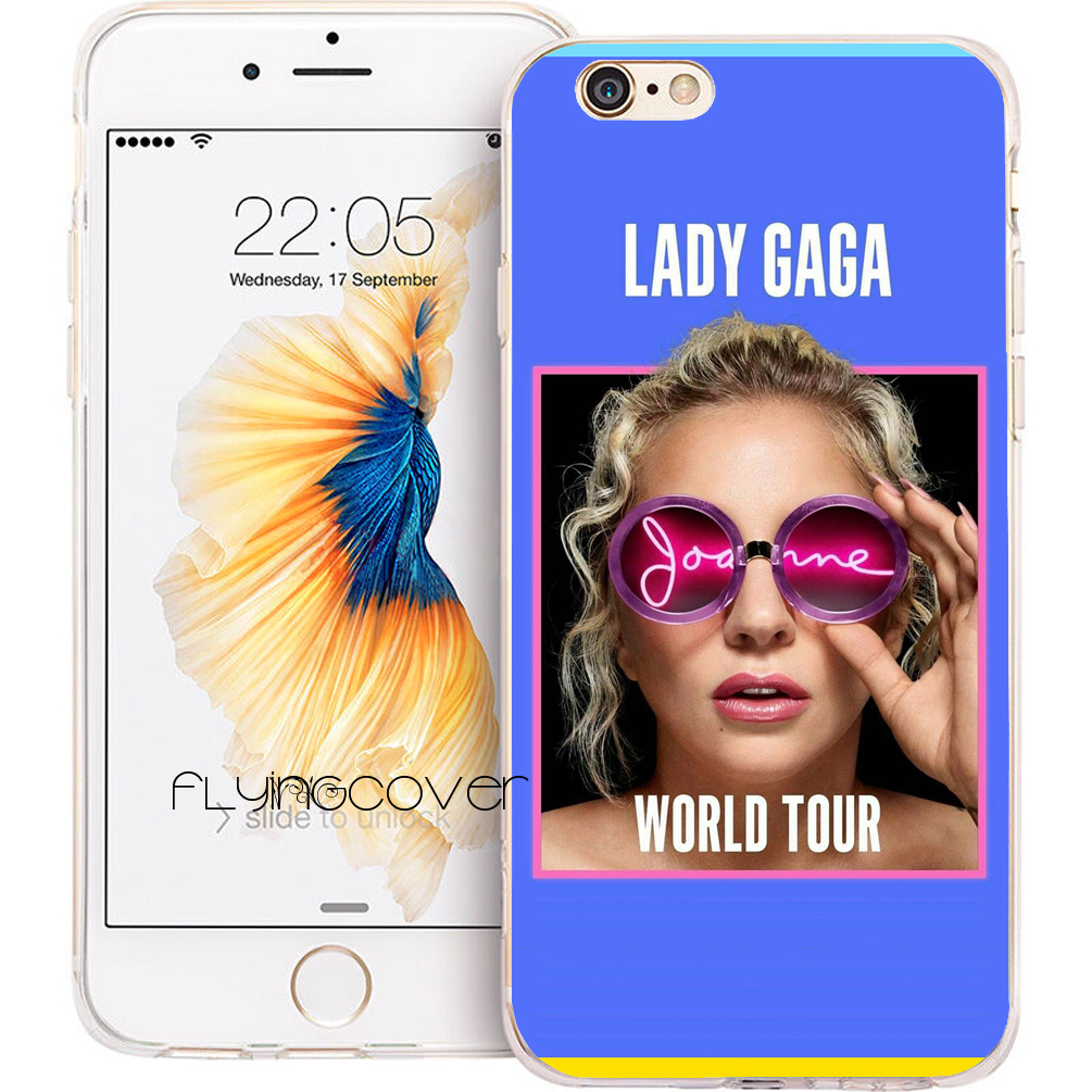 Coque Lady JOANNE GAGA Shell Cases for iPhone 10 X 7 8 6 6S Plus 5S 5 SE 5C 4S 4 iPod Touch 6 5 Case Clear Soft Silicone Cover.
