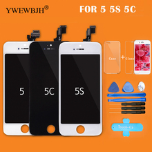YWEWBJH Factory AAA LCD For iPhone 5 Screen Display Part Glass Touch Panel Digitizer Assembly Complete Tool Black White все цены