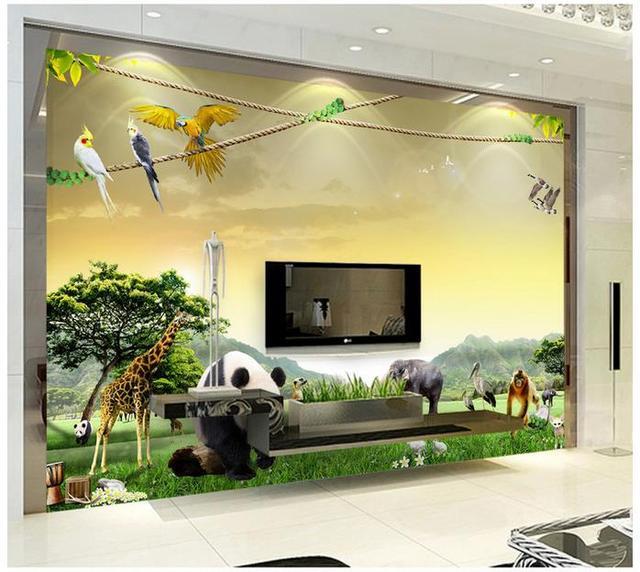 Aliexpress.com : Buy 3d wallpaper custom 3d murals wallpaper Animal ...