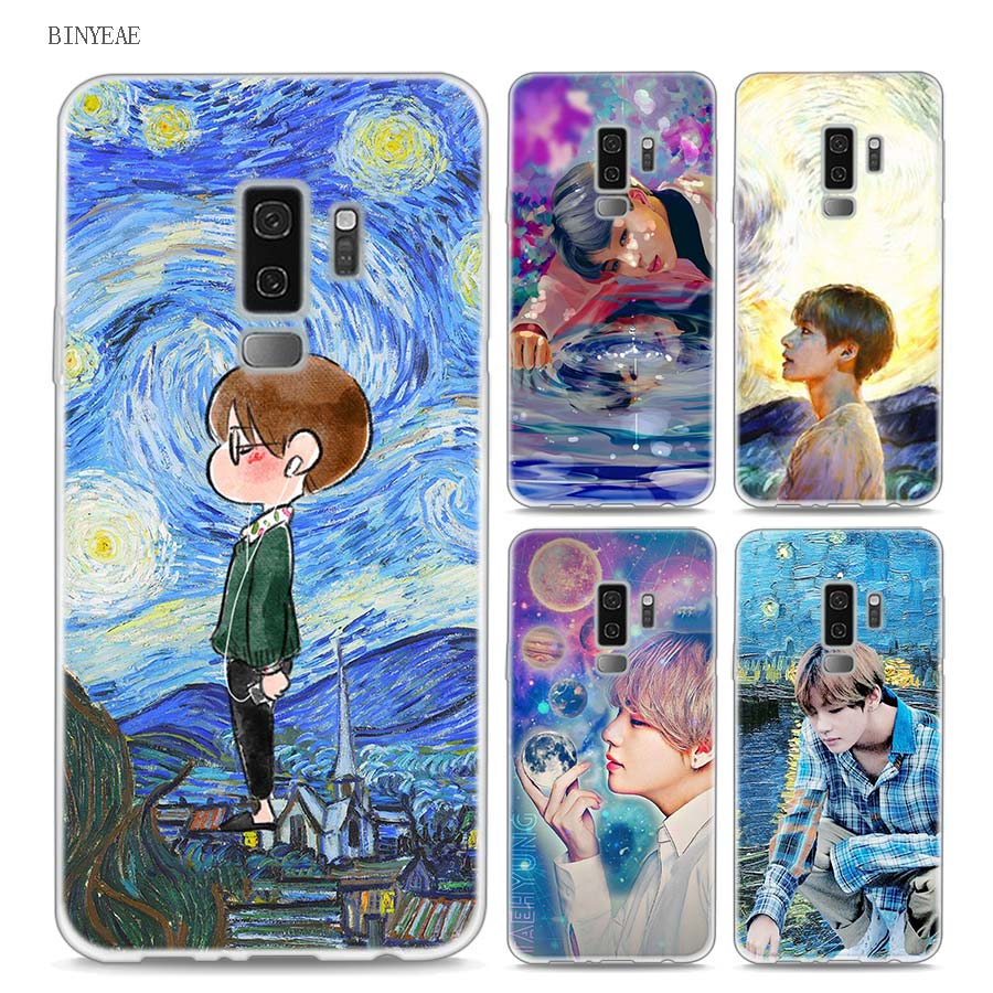 Bts Young Foreve And Van Gogh Art Style Clear Soft Tpu Phone Cases
