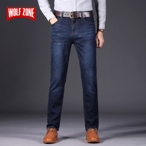 Image 1 - Autumn Winter Fashion Men Jeans New Famous Brand Stretch Mens Jeans Pants Business Casual Skinny Denim Trousers Mens Size 28 40