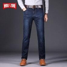 Otoño Invierno moda hombres Jeans nuevo y popular marca Jeans elásticos para hombres pantalones de negocios Casual Skinny Denim Pantalones de los hombres tamaño 28 40
