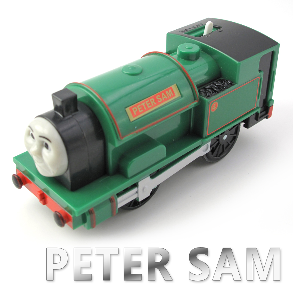 Electric Thomas Train T105E PETER SAM Thomas And Friends Trackmaster Magnetic Tomas Truck Car Engine Railway Toys for Boys