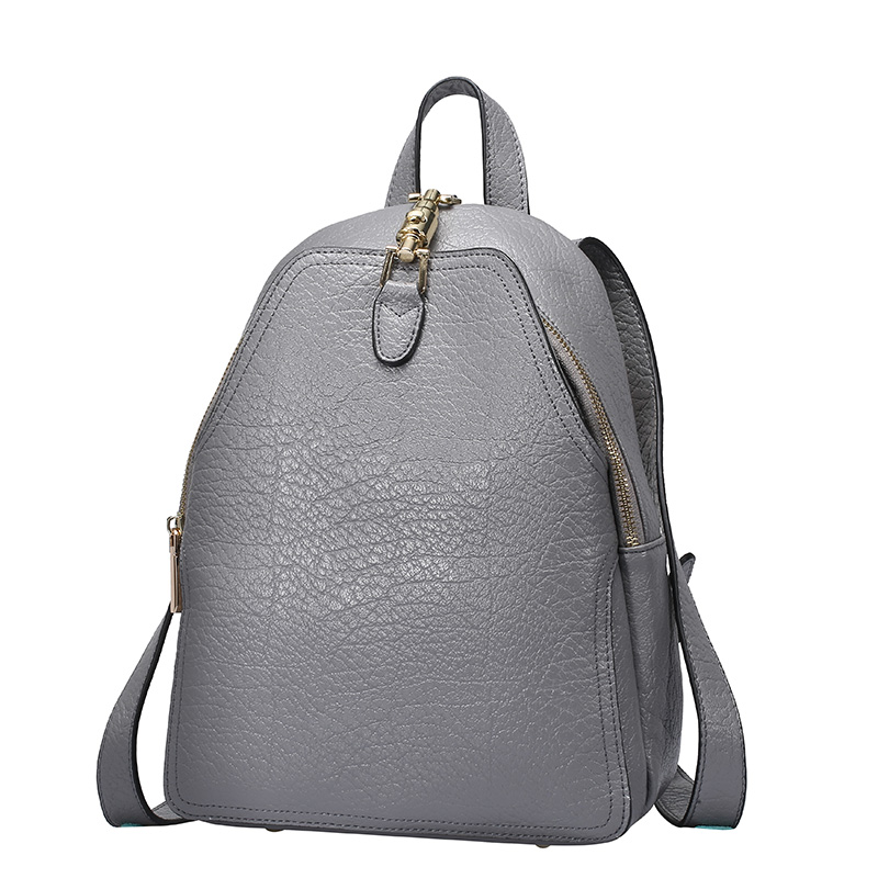 ФОТО Real cow leather small backpack female fashion bullet shape hasp front-layer openning genuine leather small backpack women