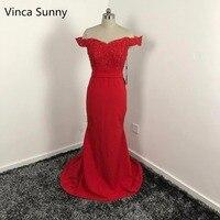Elegant vestido de festa de casamento 2017 Red bridesmaid dresses long Mermaid robe demoiselle d'honneur Custom Made vestido