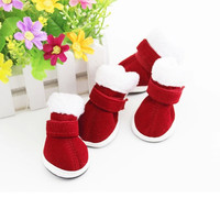 2017 Newest Christmas Dress up Warm Cotton Pet Dog Chihuahua Boots Puppy Cute Shoes For Small Dog F8303