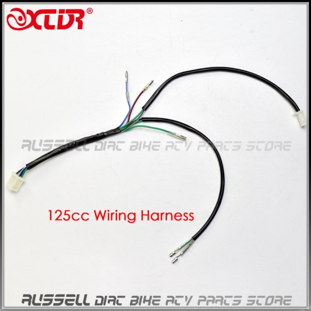 pit bike cable wiring harness loom 50cc 90 110 125cc 140cc 150cc rh aliexpress com Chinese Cdi Wiring Diagram For pit bike wiring loom electric start diagram