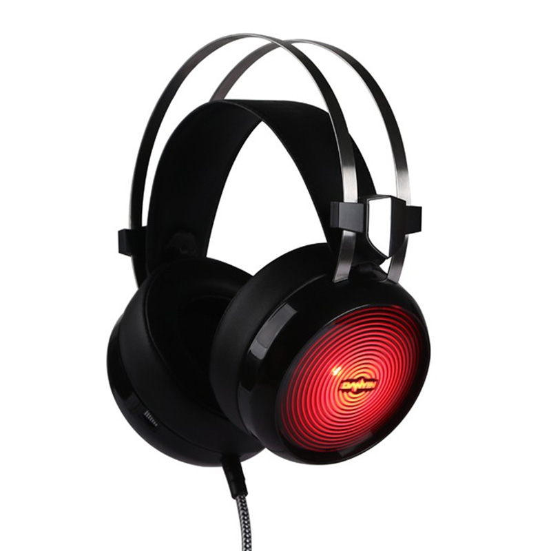 ФОТО earphone Gaming Headset Headphones with Microphone LED Light Stereo Surround kulaklik Fone De Ouvido for Computer PC Game