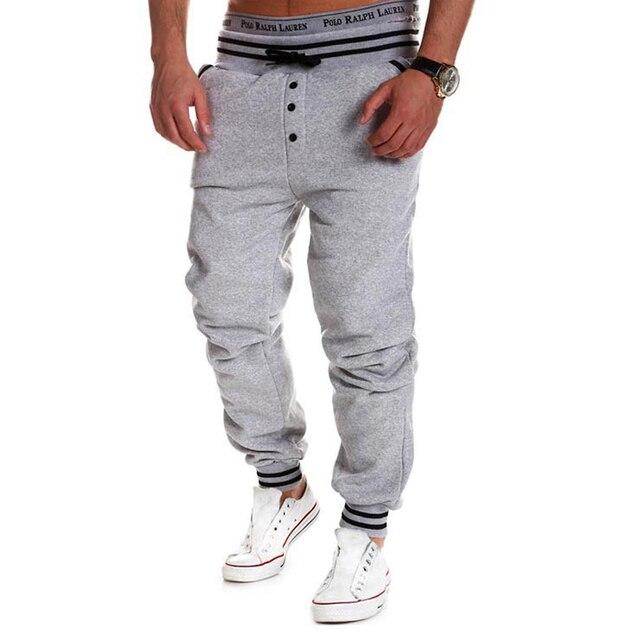 Contrast Color Elastic Men's Pants 6