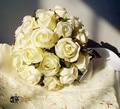 2017 Дешевые Новый На Складе Свадебный Букет невесты Невесты Цветок Слоновой Кости Искусственный Цветок Розы buque де noiva Невесты Букеты